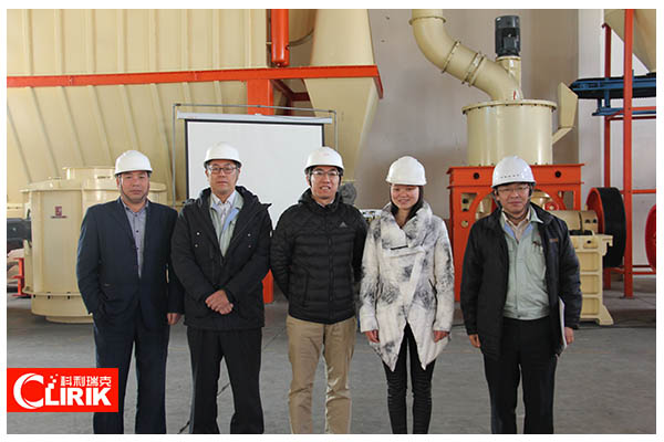 Japanese Customer Visited Our HGM100 Calcium Carbonate Grinding Mill