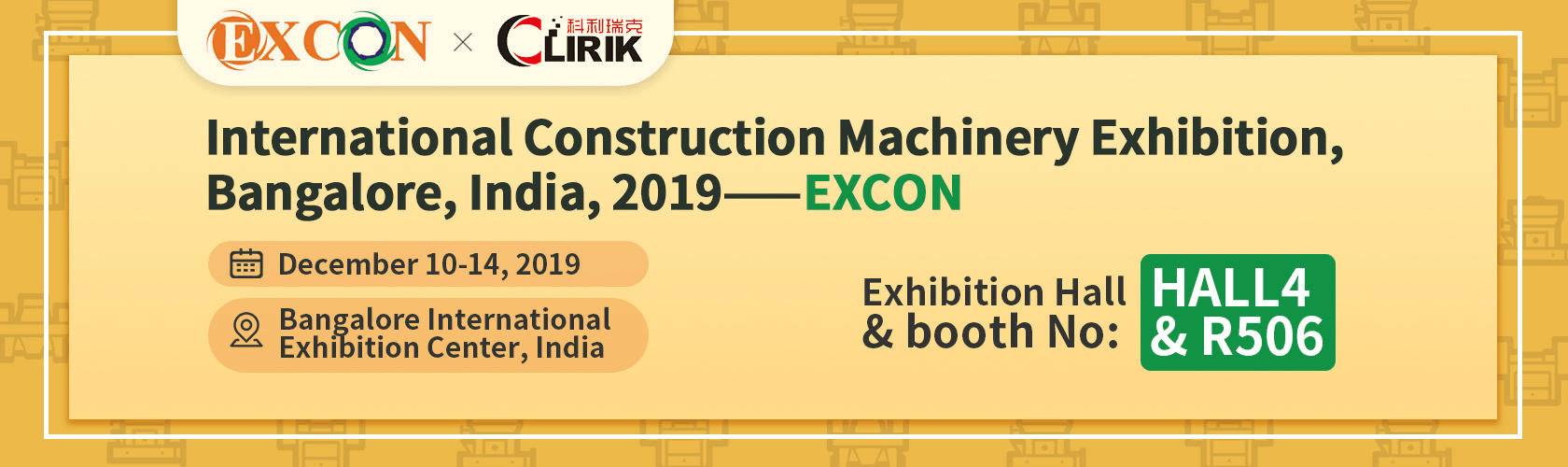 India International Construction Machinery Exhibition We are Coming