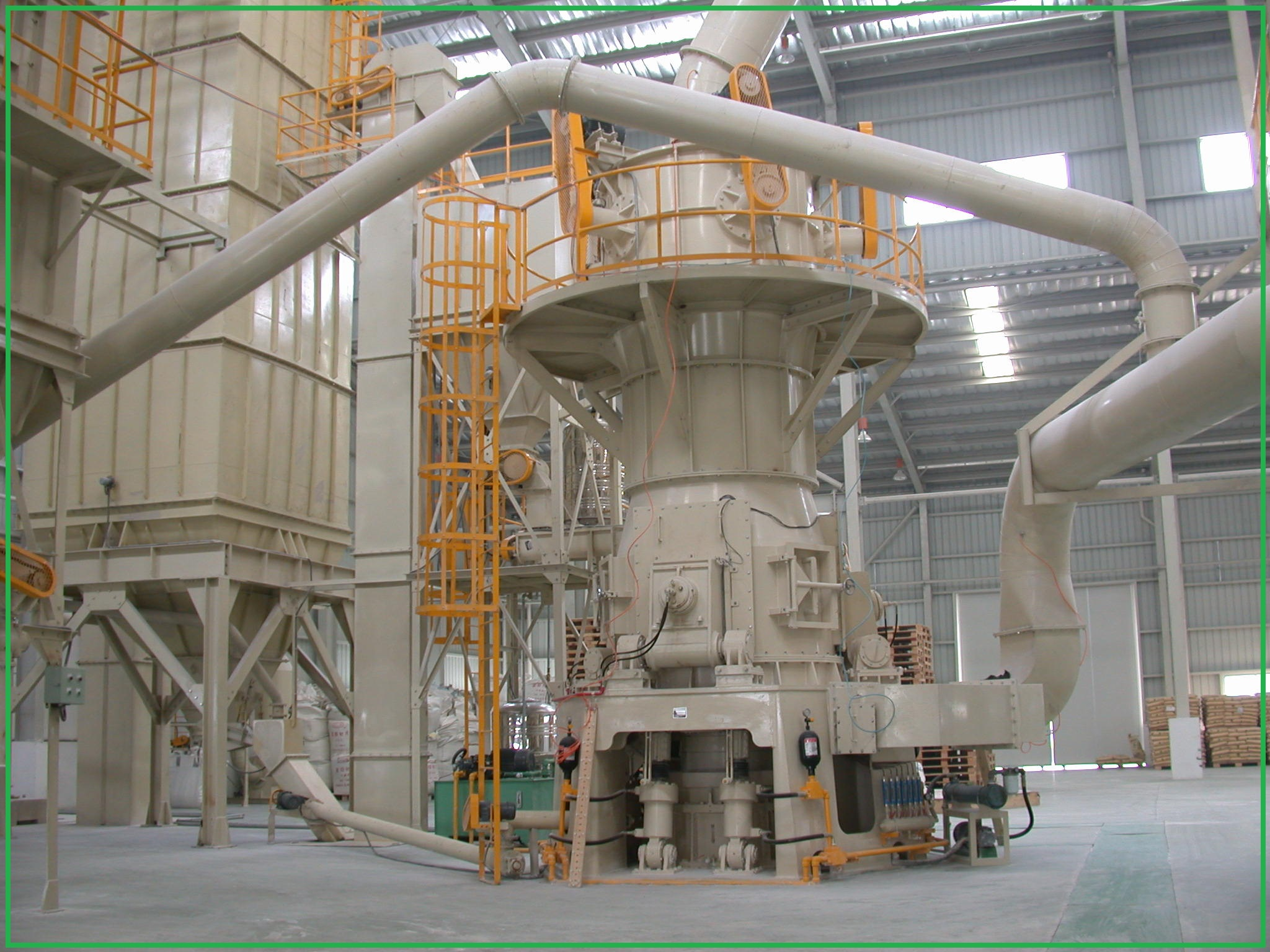 How to control vertical roller mill temp?
